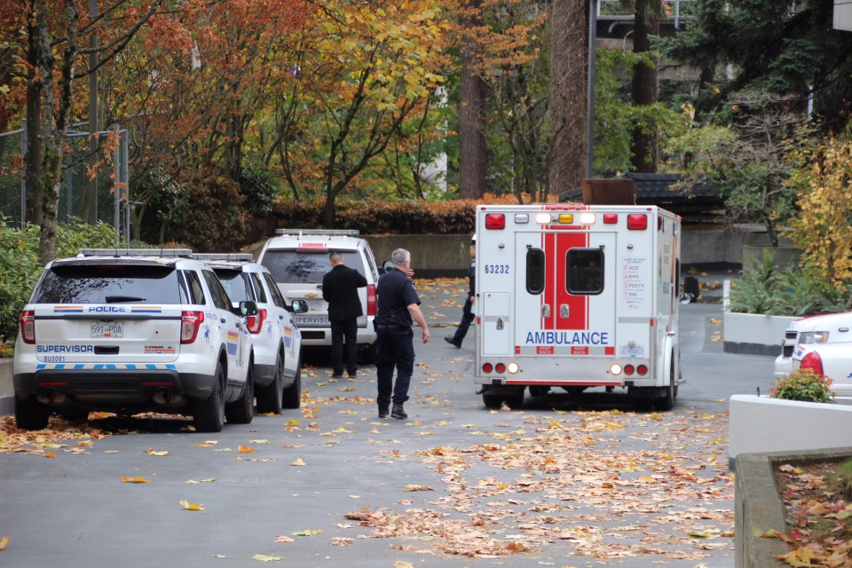 Police and paramedics were on scene at 3771 Bartlett Court on Nov. 4, 2017.