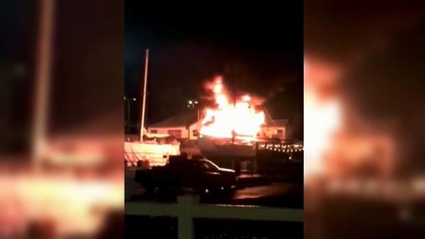 Nanaimo boat fire