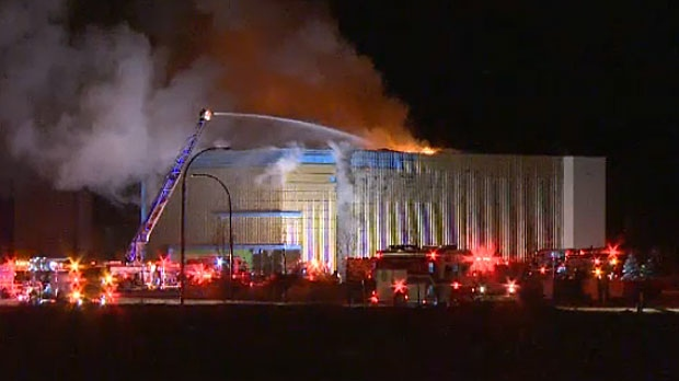 A massive fire at a Cineplex movie theatre, under contruction in southeast Calgary, elicited a huge response from the fire department.