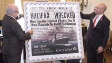Canada Post Halifax Explosion commemorative stamp