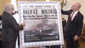 Canada Post Halifax Explosion commemorative stamp