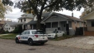 Police arrested two people on Josephine Street related to a homicide in Windsor, Ont, Monday, Nov. 6, 2017. (Bob Bellacicco / CTV Windsor)