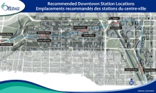 There are four planned underground stations in the downtown core.