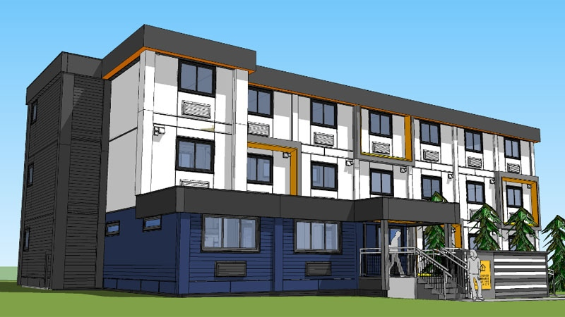 Modular housing in Marpole