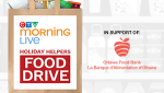Thursday is the 12th annual CTV Morning Live Holiday Helpers Food Drive.