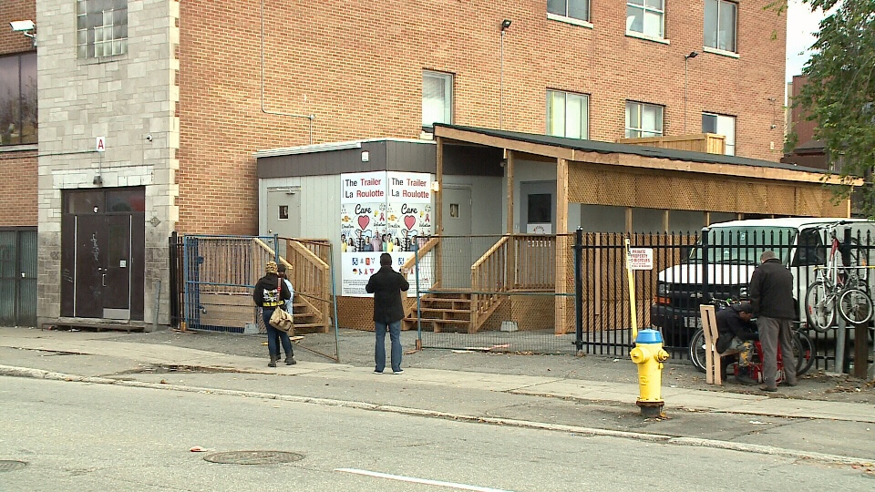 Ottawa's first round-the-clock supervised injection site, a renovated mobile trailer located in the parking lot of Shepherds of Good Hope, is set to open Nov. 6, 2017.