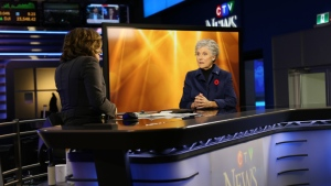 Canadian music legend Anne Murray talks to CTV News Chief Anchor and Senior Editor Lisa LaFlamme on Monday, Nov. 6, 2017. (CTVNews.ca  / Raven Gordon)