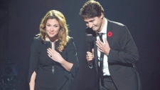 Trudeaus at Leonard Cohen tribute