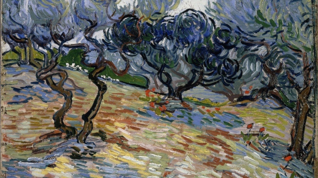 Grasshopper found embedded in a 100-year-old Vincent van Gogh painting