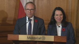 Municipal Affairs Minister Martin Coiteux and Montreal's Mayor-elect Valerie Plante met on Nov. 7, 2017