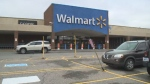 The Walmart in North Sydney was evacuated Monday after someone lit a flare inside the store.