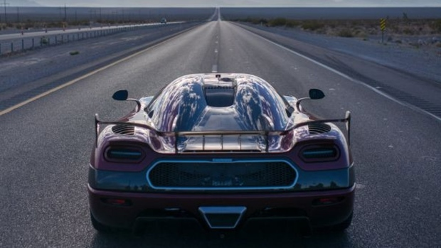 Koenigsegg Agera RS on Route 160 in Nevada
