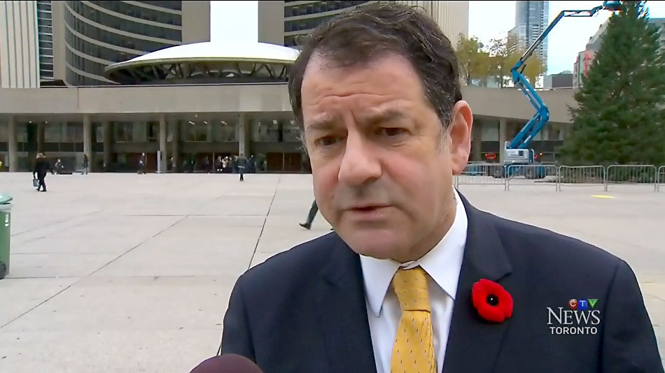 Coun. James Pasternak speaks with CTV News Toronto outside Toronto City Hall on Nov. 7, 2017.