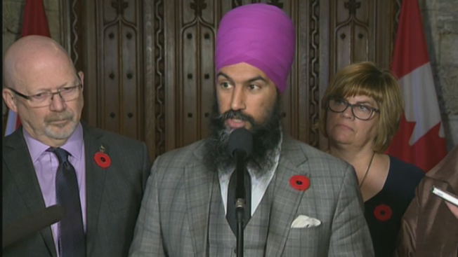 NDP leader Jagmeet Singh and his LGBTQ critics Randall Garrison and Sheri Benson are calling on Prime Minister Justin Trudeau to deliver his government's promised apology to LGBTQ Canadians in the House of Commons.