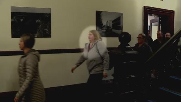 Special constable Cheryl Gardner enters court on Tuesday, Nov. 7, 2017.