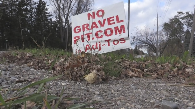 Everett's gravel pit dispute