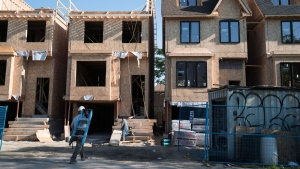 Houses under construction in Toronto on Friday, June 26, 2015. THE CANADIAN PRESS/Graeme Roy