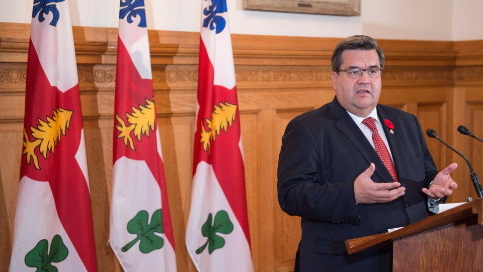 Outgoing Montreal mayor Denis Coderre responds to a question during a news conference in Montreal on Wednesday, November 8, 2017. THE CANADIAN PRESS/Paul Chiasson