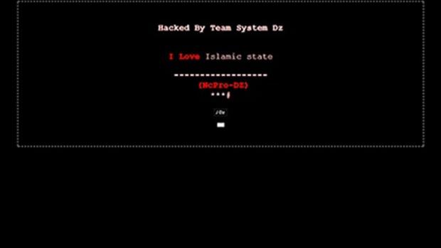 Prince Albert Police Service's hacked website