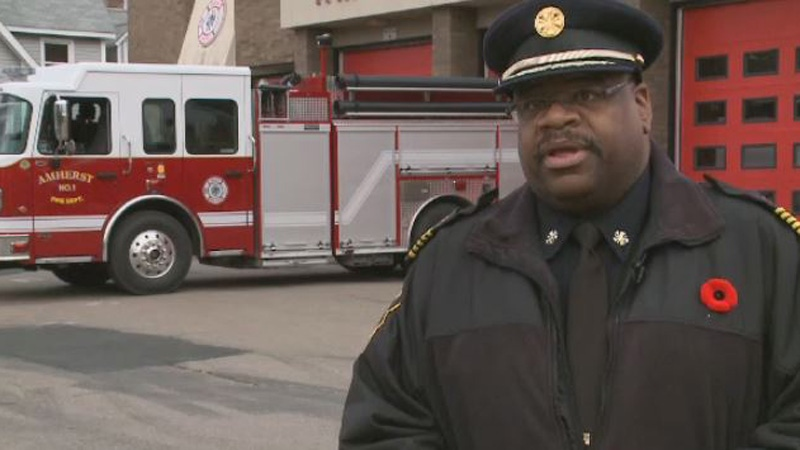 Amherst Fire Chief Greg Jones says his department has responded to 11 open fires this year, while the local police department has responded to an open fire about every other day.