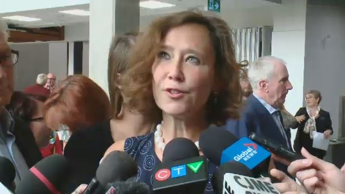 Saskatchewan Education Minister Bronwyn Eyre speaks to media in Regina in this undated file photo.