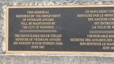 Vimy Ridge plaque