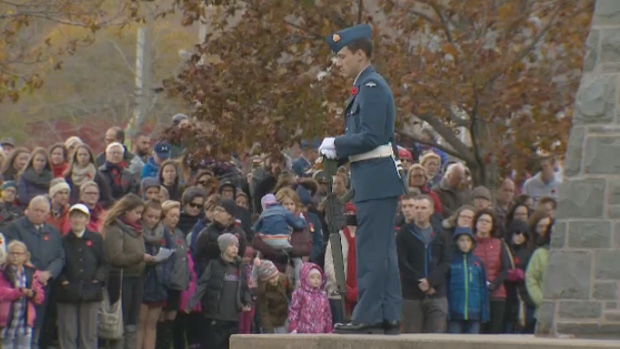 Construction has forced the Remembrance Day service a the cenotaph in Dartmouth to change locations.