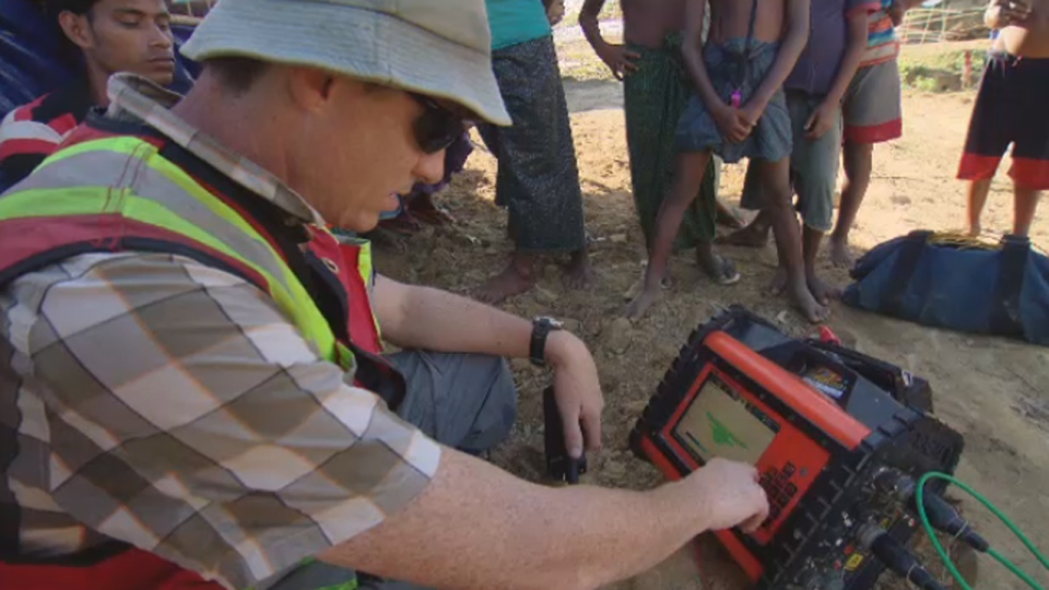 The process, called electrical resistivity tomography, gives the scientists a sense of where safe drinking water may be hiding underground.
