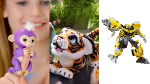 Fingerlings, Tyler the Roarin' Tiger and Bumblebee