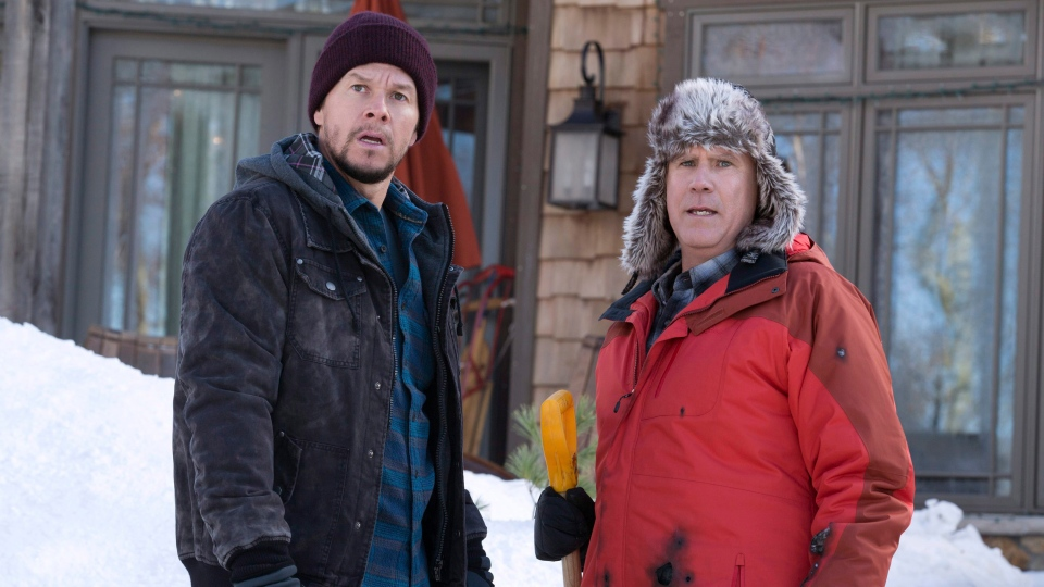 "This image released by Paramount Pictures shows Mark Wahlberg, left, and Will Ferrell in ""Daddy's Home 2."" (Claire Folger/Paramount Pictures via AP)"