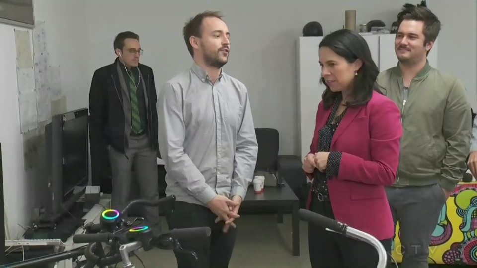 Montreal Mayor-elect Valerie Plante visited a startup company called SmartHalo on Thursday Nov. 9, 2017