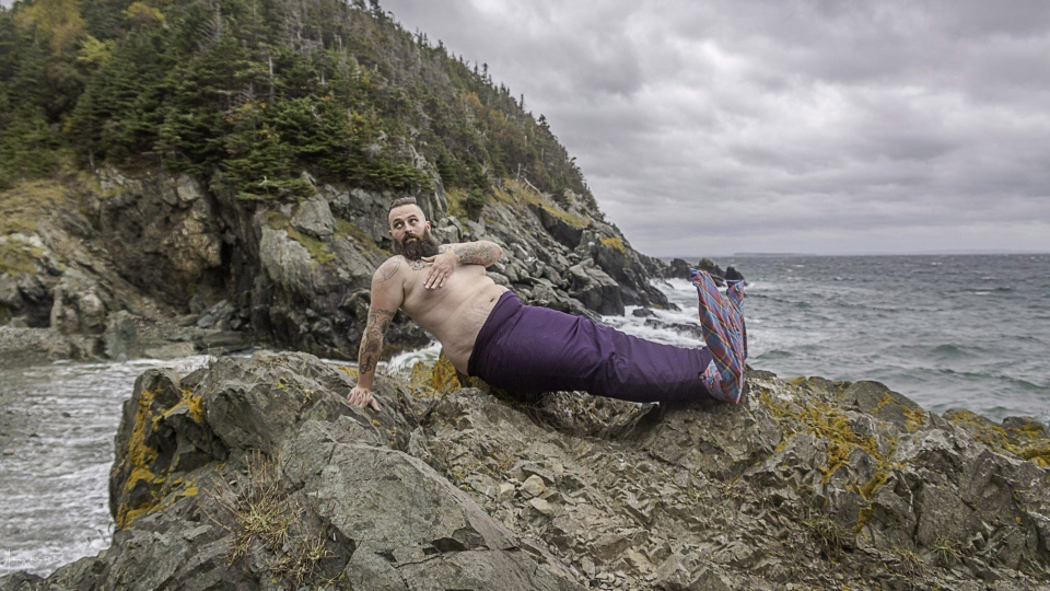 William Whelan is shown in this undated handout image at Beach Cove in Portugal Cove, N.L. near St. John's for the 2018 Merb'ys calendar. (THE CANADIAN PRESS/HO-Aubrey Dawe)