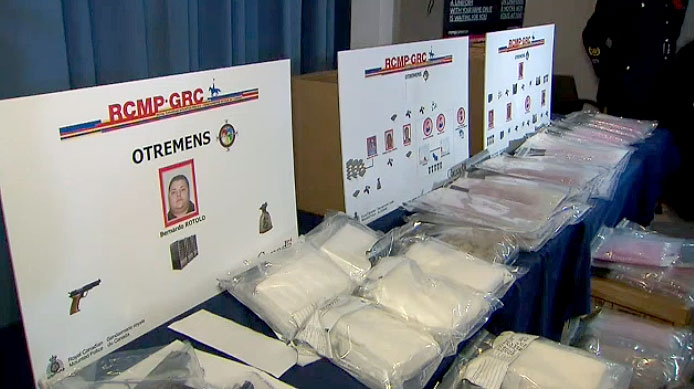 RCMP say they arrived nine people in a lengthy, cross province investigation into drug and weapons trafficking.