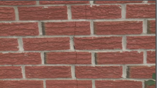 Crack in brick at an Embrun home