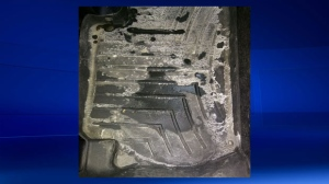 Uber - alleged mess on floor mat