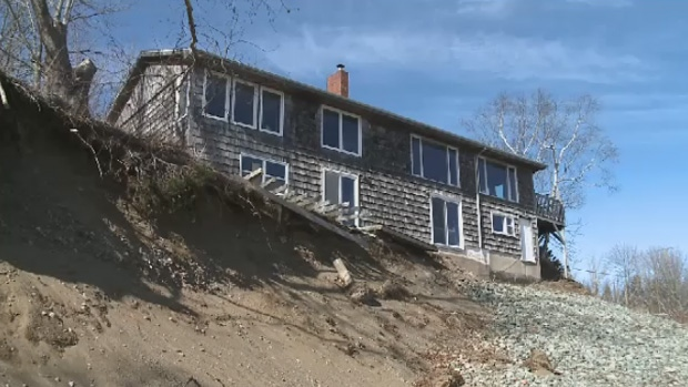 A group of homes along the Bay of Fundy in Saint John are at risk because of the force of Mother Nature.