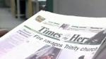 Times-Herald printing press to halt
