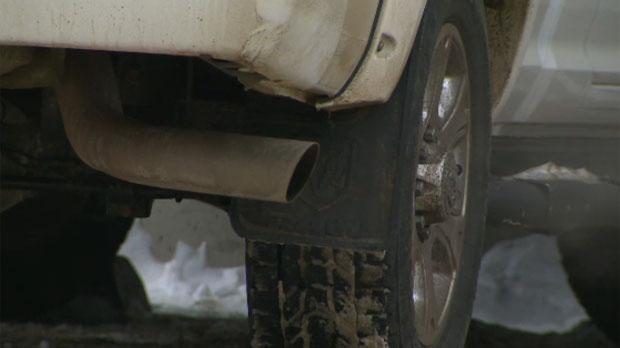 Idling vehicle - Calgary