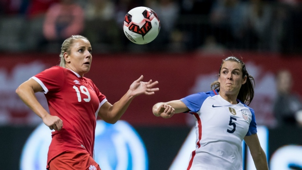 Adriana Leon in action against the U.S.