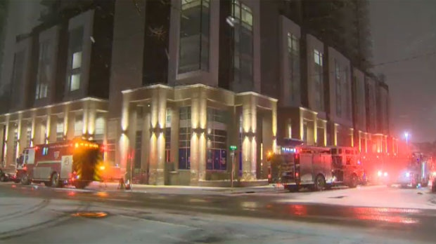 Hundreds of people were forced out of two apartment buildings in Victoria Park due to carbon monoxide.