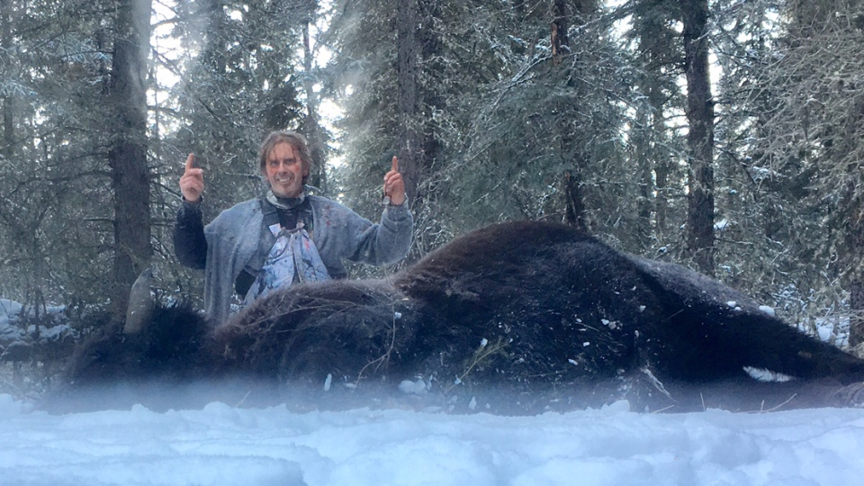 Todd Pilgrim shot and killed the large bison after it charged him.