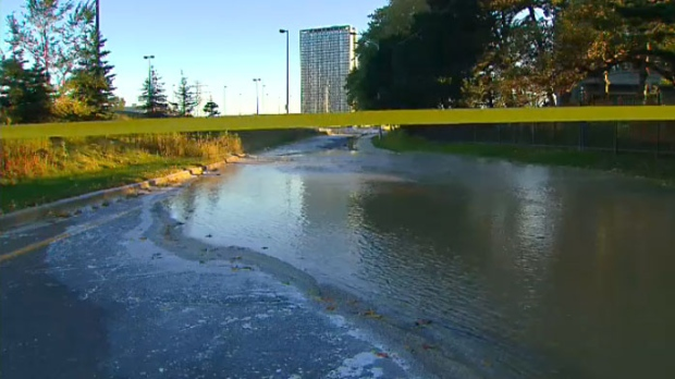 Lake Shore Boulevard water main break