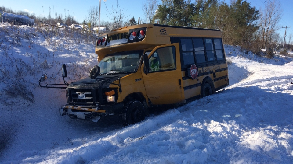 OPP responded to numerous collisions on Hwy 11 between Barrie and Orillia Friday due to icy road conditions (CTV Barrie)