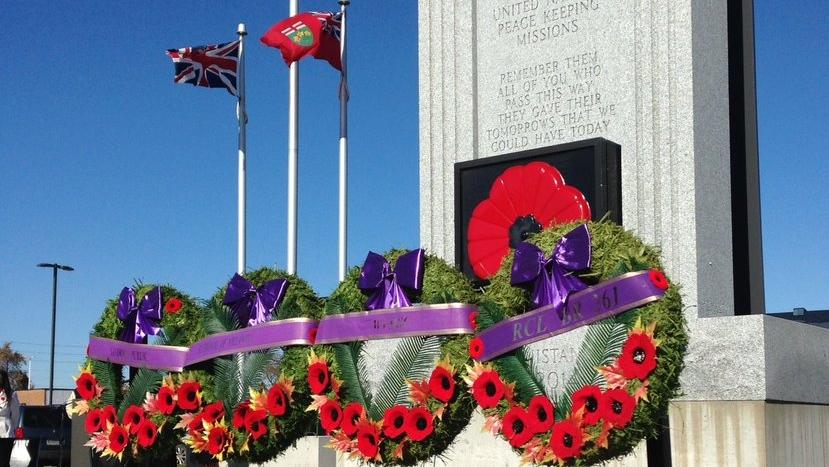 Remembrance Day ceremony at the LaSalle's Cenotaph Park non Nov. 10, 2017. (Bob Bellacicco/CTV Windsor)
