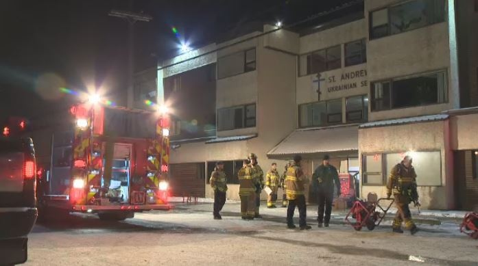 One person is dead after a fire at the St. Andrew's Ukrainian Selo on Thursday, November 9, 2017.