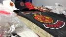 On Nov. 10 Winnipeg police displayed what was seized in two raids in Osborne Village Nov. 3, including gang clothing, marijuana, Fentanyl and $150,000 in cash