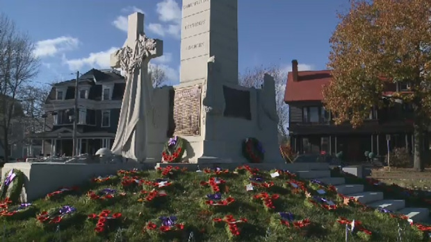 Many Remembrance Day services remain outside, no matter the weather conditions.