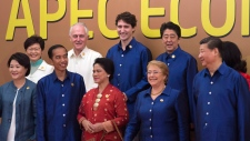 Prime Minister Justin Trudeau with APEC leaders