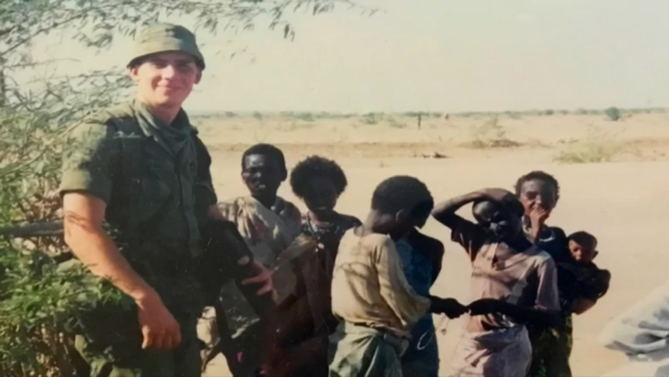Corporal Michael David Abel is seen in Somalia in this undated photo. (CTV News)