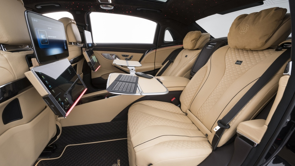 Inside the Brabus 900 based on the Mercedes-Maybach S 650. (Brabus De)